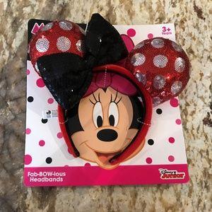 Red Girls Sequin Disney Minnie Mouse Ears Headband